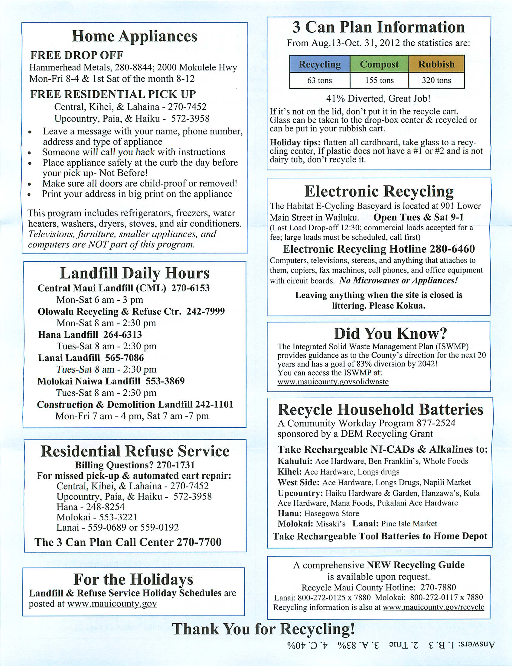 maui recyling information