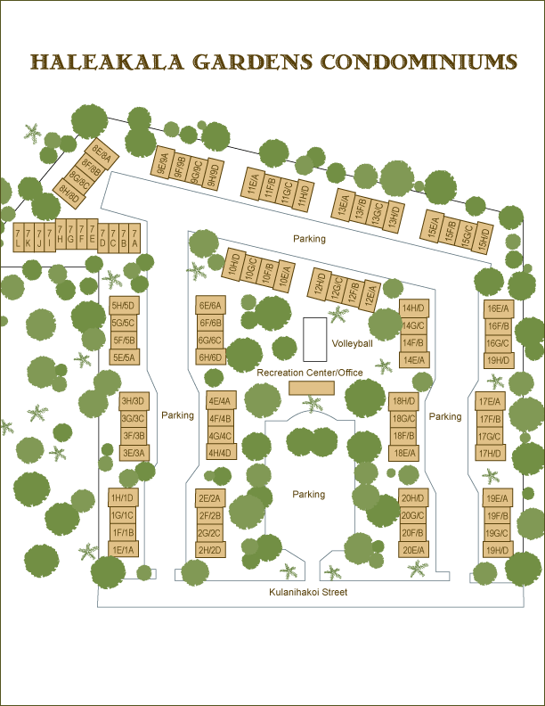 Haleakala Gardens Condo Map Guide