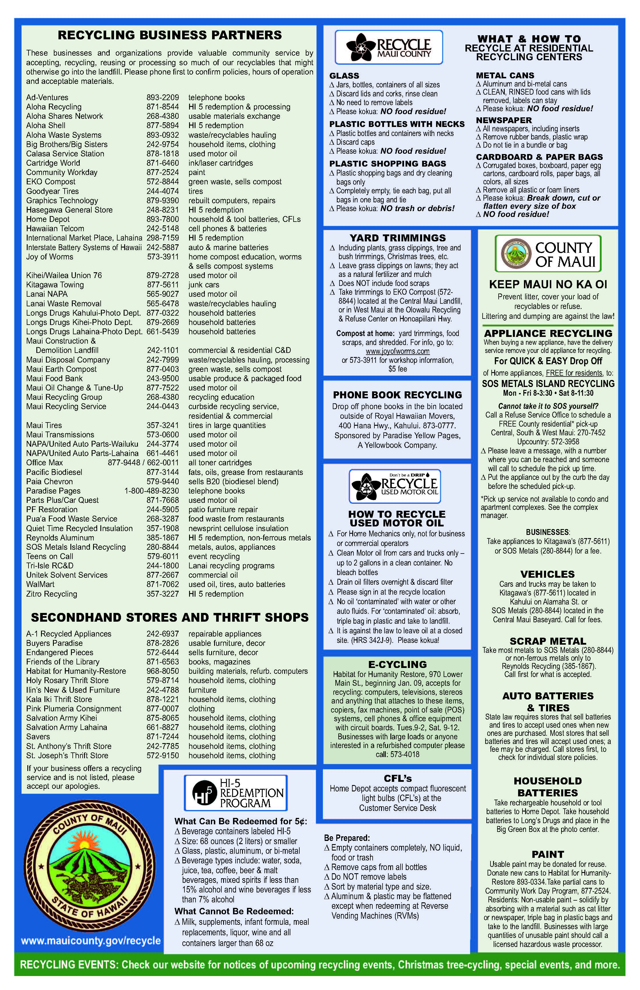 Maui County Recycling Guide