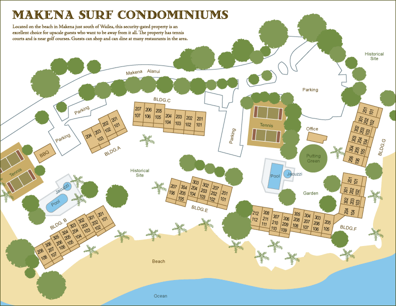 makena Surf Condominium site map