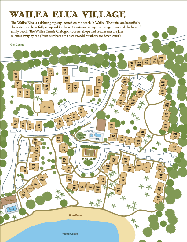 wailea elua village condo site map