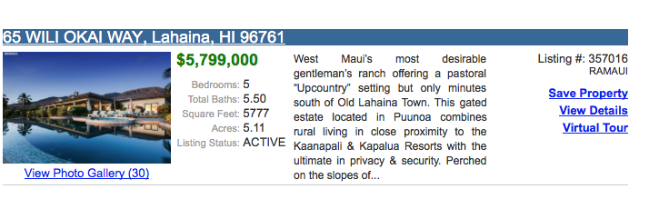 active maui listing for sale