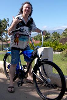 Howard Dinits on a bike ride in Maui Hawaii