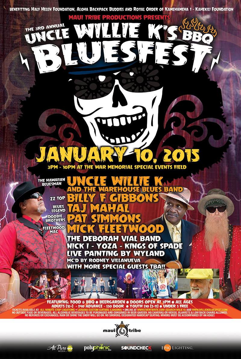 Willie K Blues Festival and Barbeque 2015