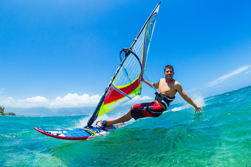 windsurfing is popular and waipuilani park is nearby