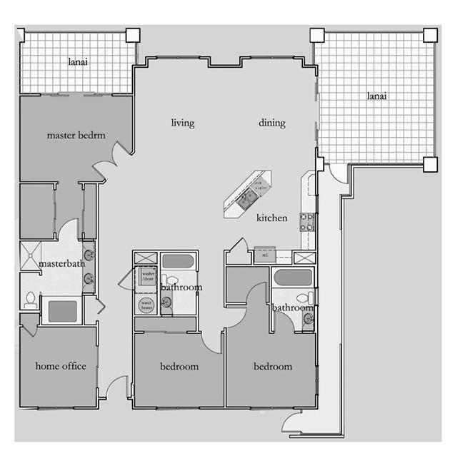 opukea sample floorplan lahaina maui condo