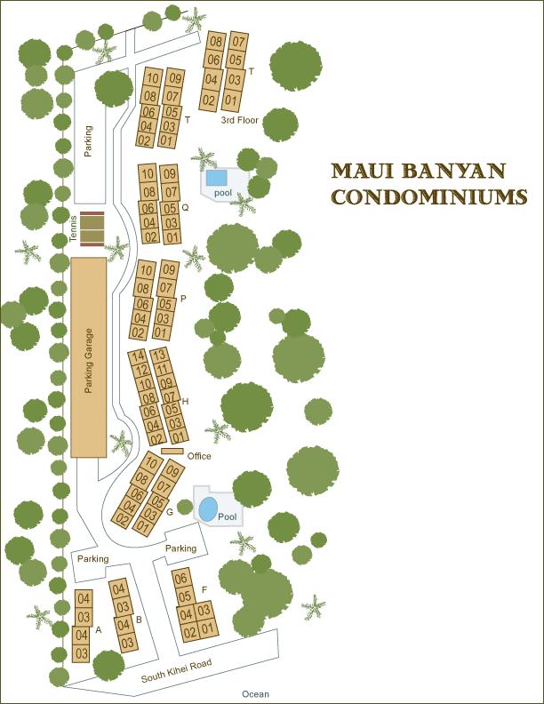 Maui Banyan site map